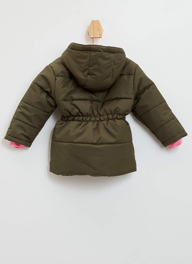 DeFacto Kız Bebek Kapüşonlu Mont  Haki